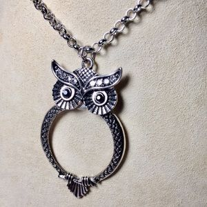 Magnifying Owl Necklace